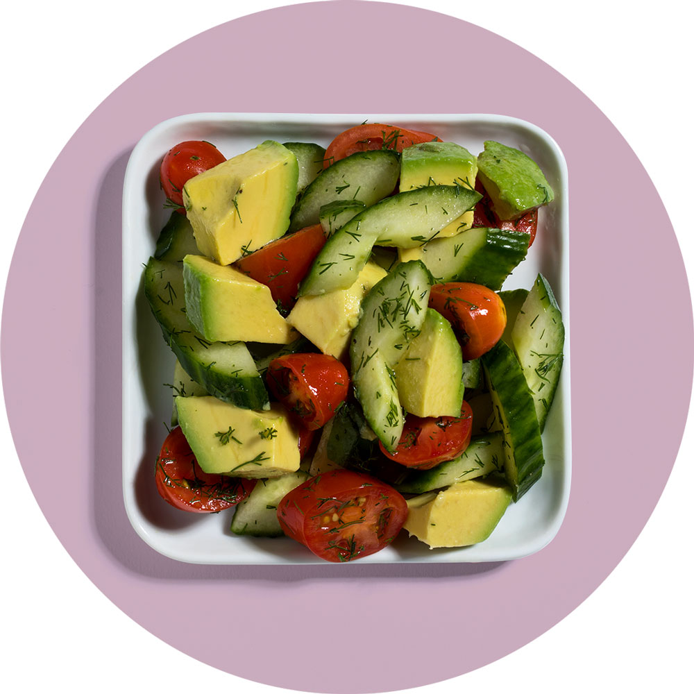 Cucumber Tomato Avocado